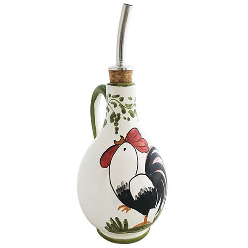 "Rooster Olive Oil Cruet with Handle, 6.5"" by Abbiamo Tutto"