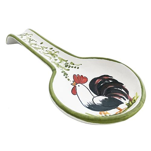 "Rooster Spoon Rest, 9.5"" x 7.5"" by Abbiamo Tutto"