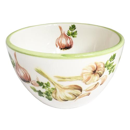 "Garlic & Herb Chowder/Soup/Salad/Dessert/Dipping Bowl, 20 oz. 3"", Set of 6 by Abbiamo Tutto"