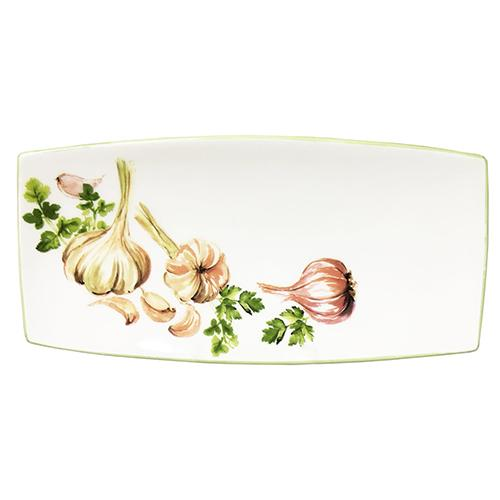 "Garlic & Herb Rectangular Tray, 10"" x 5"" by Abbiamo Tutto"