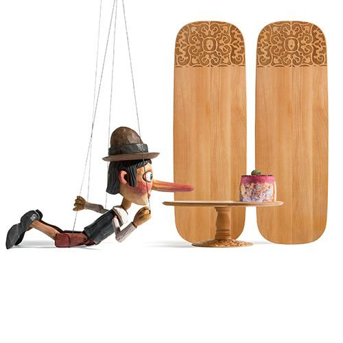 Dressed in Wood Serving Board by Marcel Wanders for Alessi