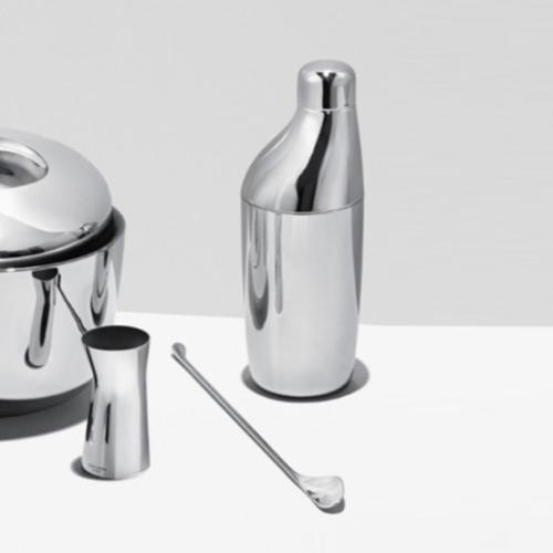 Sky Stainless Steel Stirring Spoon and Jigger Set by Aurelien Barbry for Georg Jensen