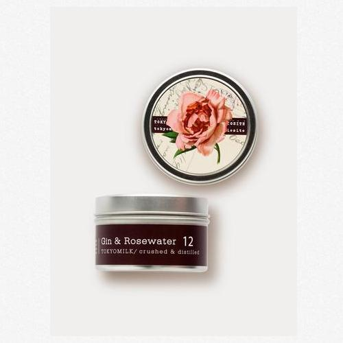 Gin and Rosewater No. 12 Travel Candle by Tokyomilk