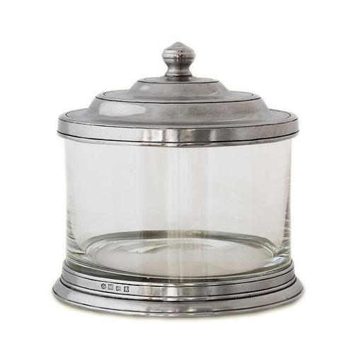 Glass Cookie Jar by Match Pewter
