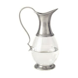 Glass Pitcher with Handle by Match Pewter