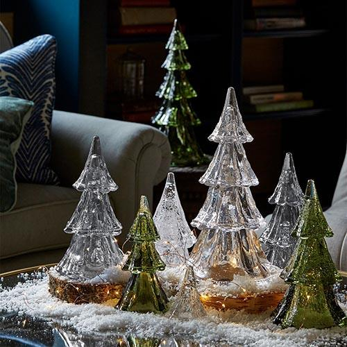 Berry and Thread Stacking Glass Trees by Juliska
