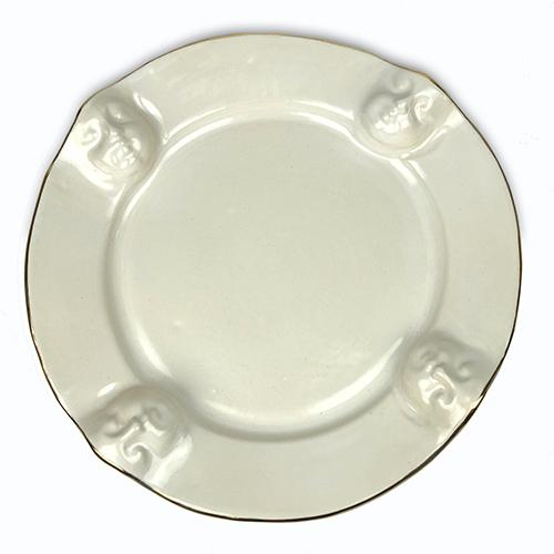"Viso Faces Platinum 13"" Platter by Michael Wainwright"
