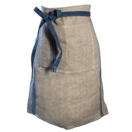 French Linen Chef's Half Apron by Thieffry Freres & Cie