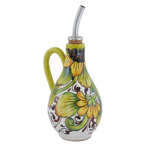 "Sunflower Olive Oil Cruet with Handle, 6.5"" by Abbiamo Tutto"