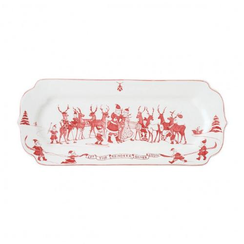 Country Estate Reindeer Games Hostess Tray by Juliska