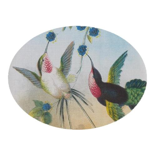 Chilewich: Paired Hummingbirds Oval Woven Vinyl Placemats, Set of 4