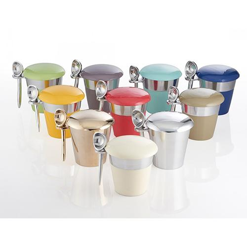 Lunares Pint Ice Cream Serving Set by Nima Oberoi