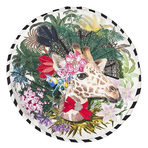"Dona Jirafa Opiat 18"" Round Pillow by Christian Lacroix"