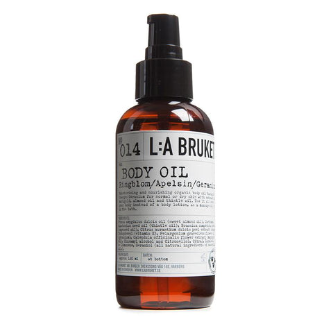 No. 014 Marigold/Orange/Geranium Body Oil by L:A Bruket
