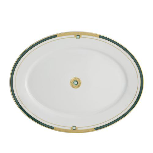 Emerald Large Oval Platter by Vista Alegre