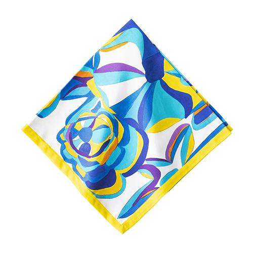 Blue Rose Cotton Napkin, Set of 4 by Juliska