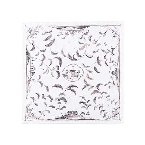 Country Estate Flint Grey Cotton Napkin, Set of 4 by Juliska