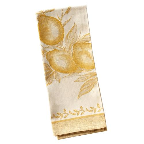 "Lemon Yellow Cotton Kitchen Towel, 31"" x 22"", Set of 4 by Abbiamo Tutto"