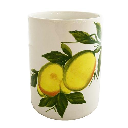 "Lemon Wine Bottle Holder/Utensil Holder, 5.5"" by Abbiamo Tutto"