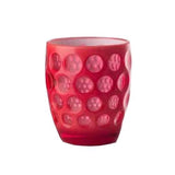 Lente Synthetic Crystal Tumbler  Fluo REd by Mario Luca Giusti