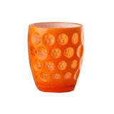 Lente Synthetic Crystal Tumbler Fluo Orange by Mario Luca Giusti