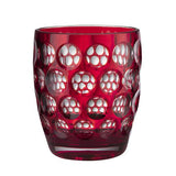 Lente Synthetic Crystal Glass Red by Mario Luca Giusti