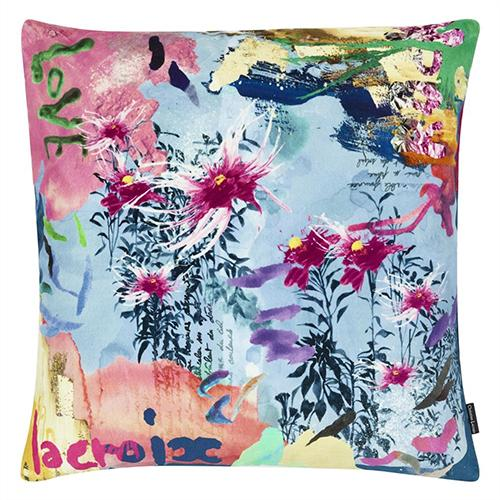 "L'Herbier Ruisseau 20"" Square Pillow by Christian Lacroix"
