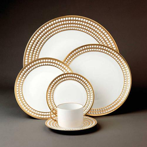Perlee Gold Espresso Cup & Saucer, Set of 6 by L'Objet