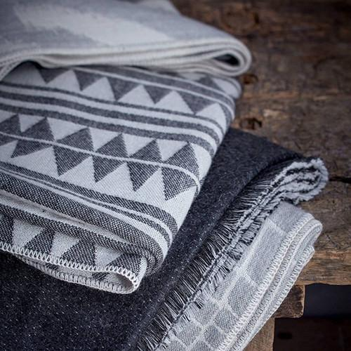 Triangles Jacquard Throw by L'Objet