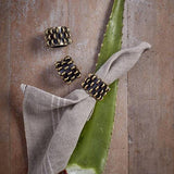 Tulum Rings Napkin Jewels Napkin Rings, Set of 4 by L'Objet