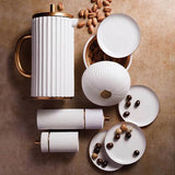Ionic White Salt and Pepper Mills, Small by L'Objet
