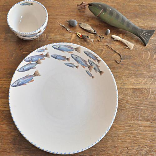 Lake Fish Dinner Plate Set of 6 by Abbiamo Tutto