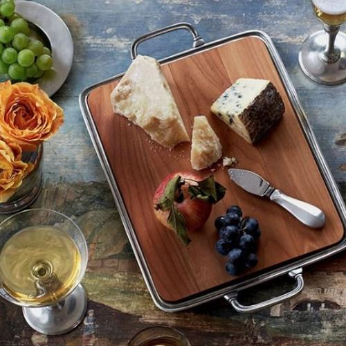 Cheese Tray with Handles by Match Pewter