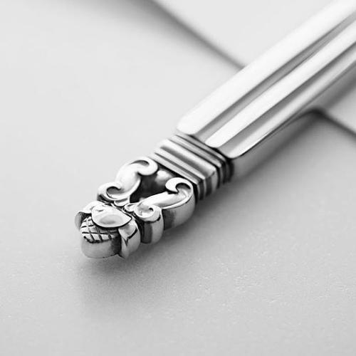 Acorn Carving Fork by Johan Rohde for Georg Jensen