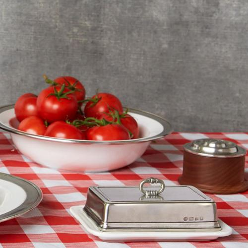 Butter Dish by Match Pewter