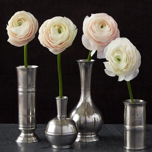 Footed Cylinder Vase by Match Pewter