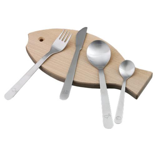 mono kids 4 Piece Flatware Set with Cutting Board by Peter Raacke for Mono Germany
