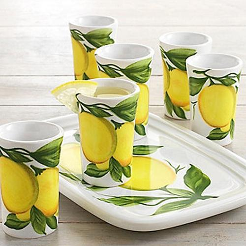 Lemon Ceramic Limoncello Set by Abbiamo Tutto Italy