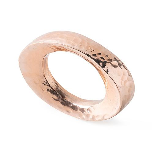 Puro Rose Gold Napkin Ring, set of 4 by Juliska