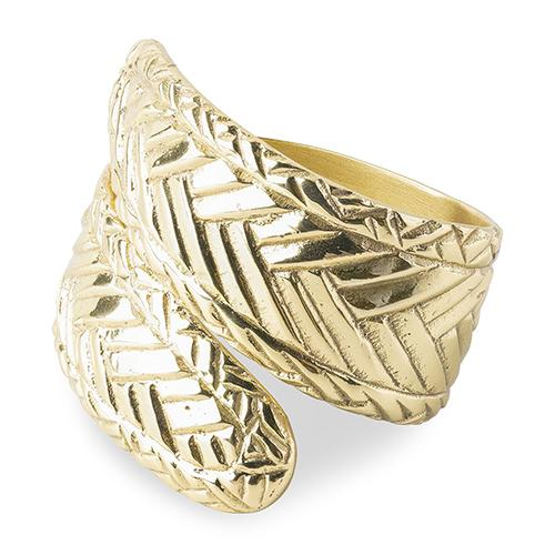 Le Panier Gold Napkin Ring, set of 4 by Juliska