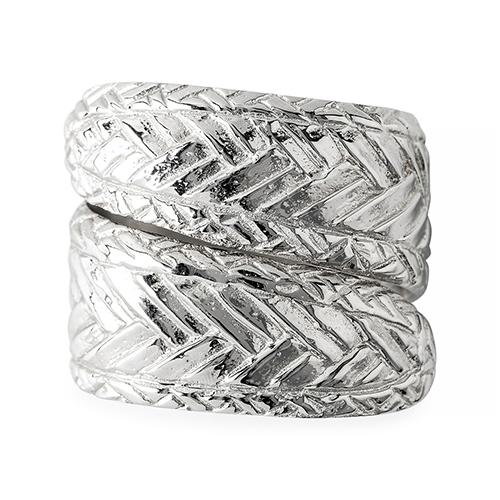Le Panier Silver Napkin Ring, set of 4 by Juliska