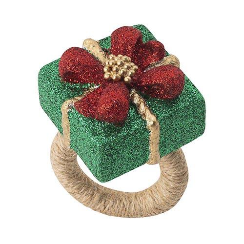 Berry & Thread Present Napkin Ring, Set of 4 by Juliska