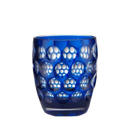 Lente Synthetic Crystal Glass Blue by Mario Luca Giusti