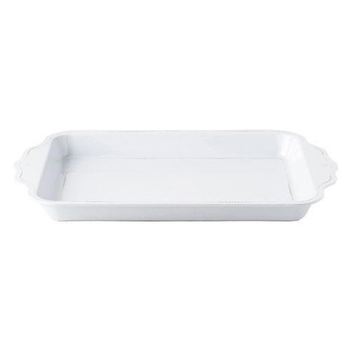 "Berry and Thread Melamine Whitewash 24"" Handled Tray by Juliska"