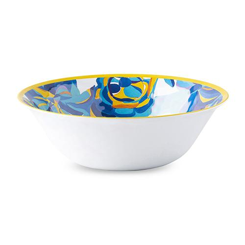 "Blue Rose Melamine 11.5"" Serving Bowl by Juliska"