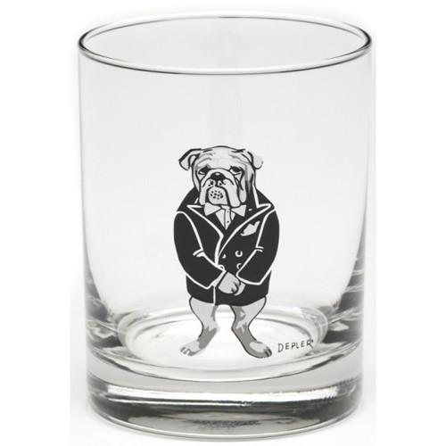 Bar Hounds Mad Dog Double Old Fashioned Glass by Depler