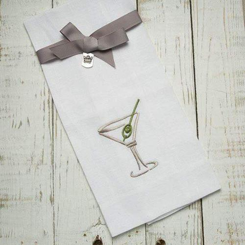 "Martini 17"" x 29"" Linen Towel by Crown Linen Designs"