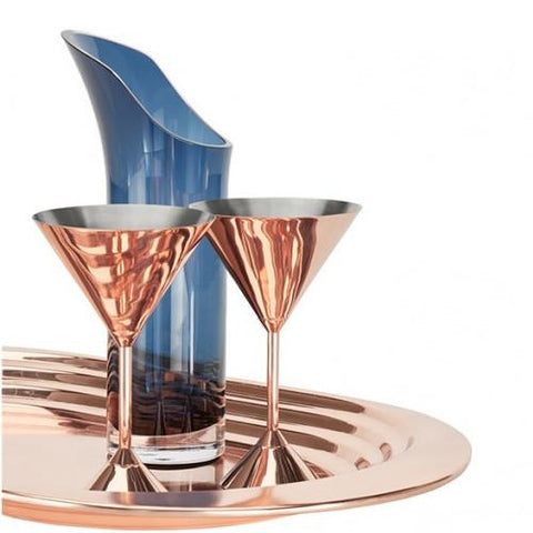 Plum Martini Glass, set of 2 by Tom Dixon
