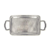 Lago Rectangle Tray with Handles by Match Pewter