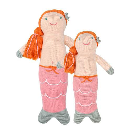 Melody the Pink Mermaid Knit Doll by Blabla